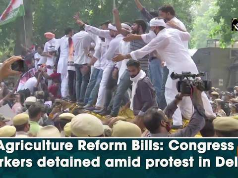 Agriculture Reform Bills: Congress workers detained amid protest in Delhi