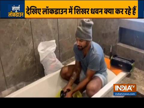 Here's how cricketer Shikhar Dhawan spending his quarantine