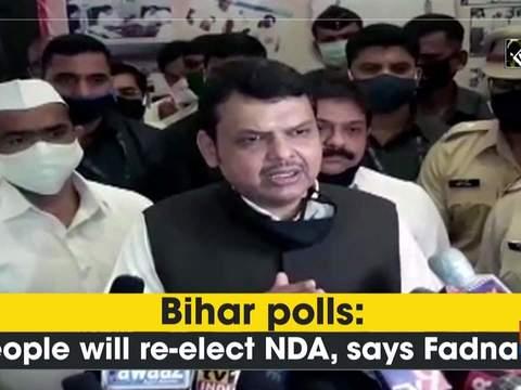 Bihar polls: People will re-elect NDA, says Fadnavis
