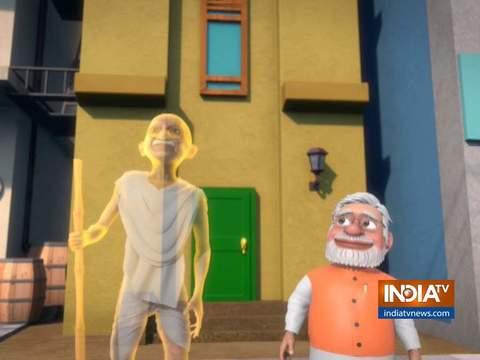 OMG: Mahatma Gandhi inspires PM Modi to do 'Gandhigiri'