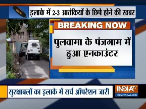 जम्मू कश्मीर में सुरक्षा बलों ने आतंकियों को दो जगह पर घेरा, पुलवामा में 1 आतंकी ढेर