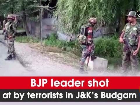 BJP leader shot at by terrorists in JK's Budgam