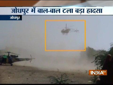 2 IAF choppers makes emergency landing in Jodhpur