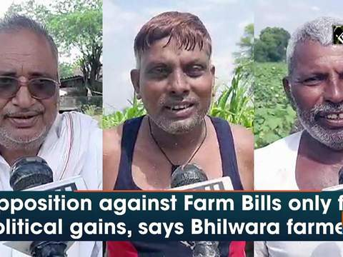 Opposition against Farm Bills only for political gains, says Bhilwara farmers