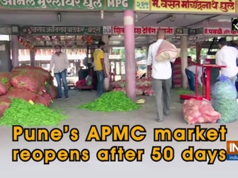 Pune's APMC market reopens after 50 days
