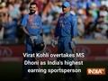 Virat Kohli overtakes MS Dhoni as India's highest-earning sportsperson
