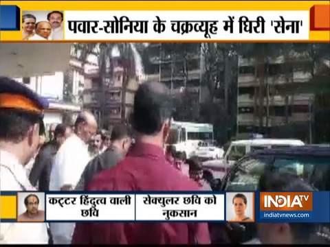 एनसीपी चीफ शरद पवार मुंबई के लीलावती अस्पताल में शिवसेना नेता संजय राउत से मिले