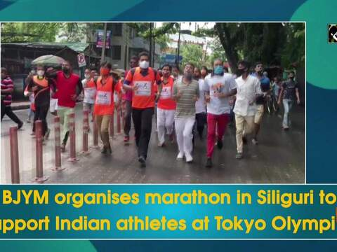 BJYM organises marathon in Siliguri to support Indian athletes at Tokyo Olympics