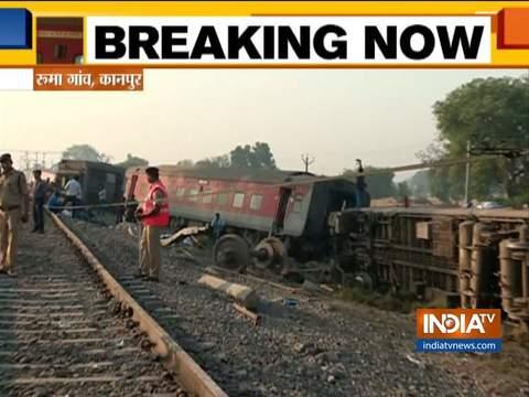 कानपुर के पास हावड़ा-नई दिल्ली पूर्वा एक्सप्रेस के 12 डिब्बे पटरी से उतरे, बचाव अभियान जारी
