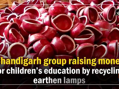 Chandigarh group raising money for children education by recycling earthen lamps