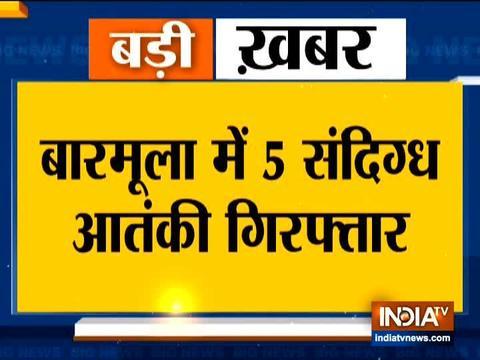 जम्मू और कश्मीर में पांच आतंकवादी संदिग्धों को पुलिस ने किया गिरफ्तार