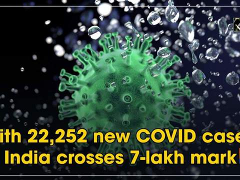 With 22,252 new COVID cases, India crosses 7-lakh mark