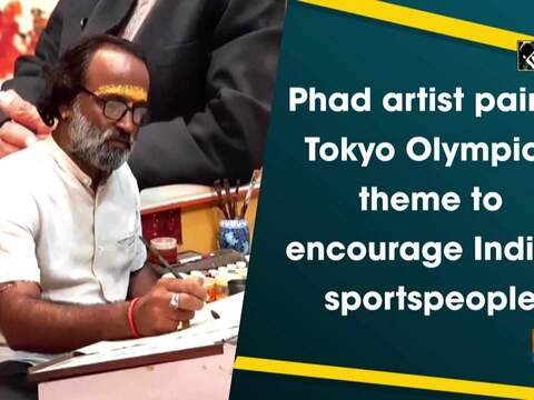 Phad artist paints Tokyo Olympics theme to encourage Indian sportspeople