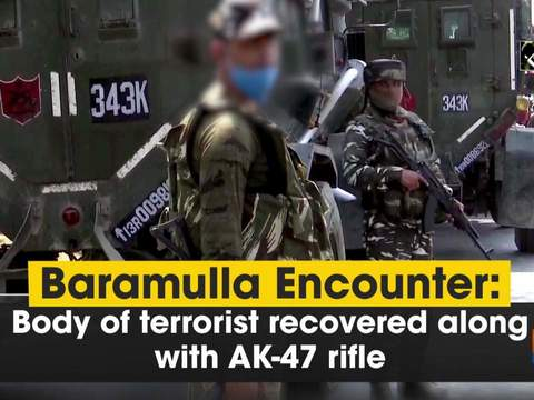 Baramulla Encounter: Body of terrorist recovered along with AK-47 rifle