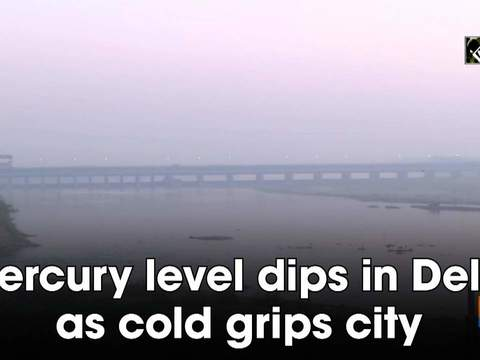 Mercury level dips in Delhi as cold grips city