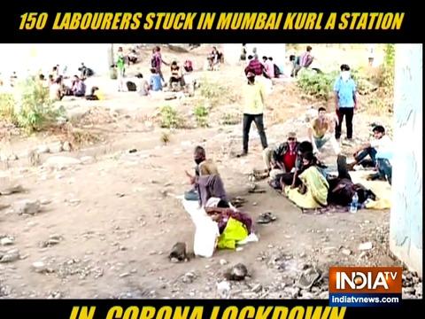 Lockdown की वजह से मुंबई में फंसे प्रवासी मजदूर