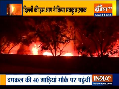Delhi: Massive fire breaks out at factory in Mundka