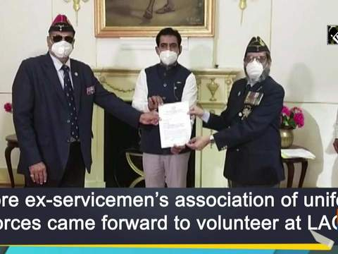 Indore ex-servicemen's association of uniform forces came forward to volunteer at LAC