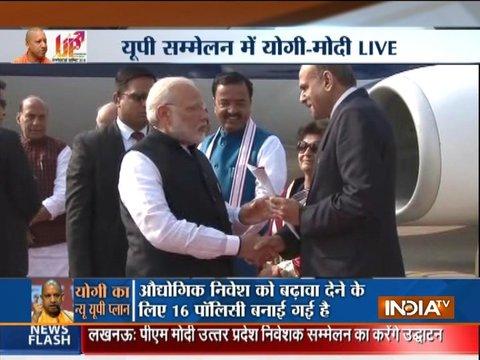 UP Investors Summit 2018: PM Modi arrives in Lucknow