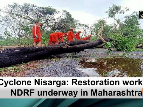 Cyclone Nisarga: Restoration work by NDRF underway in Maharashtra