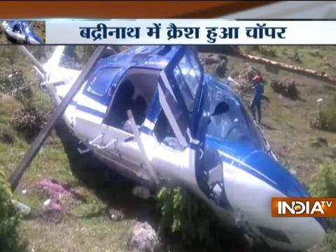 Uttarakhand: Engineer killed, two pilots injured in helicopter crash in Badrinath