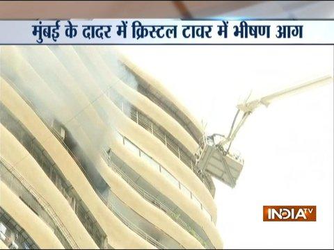 मुंबई के परेल में क्रिस्टल टावर में भीषण आग