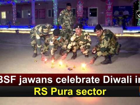 BSF jawans celebrate Diwali in RS Pura sector