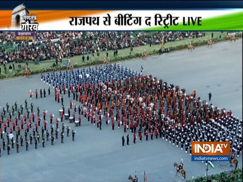 Beating Retreat ceremony at Rajpath marks end of Republic Day celebrations