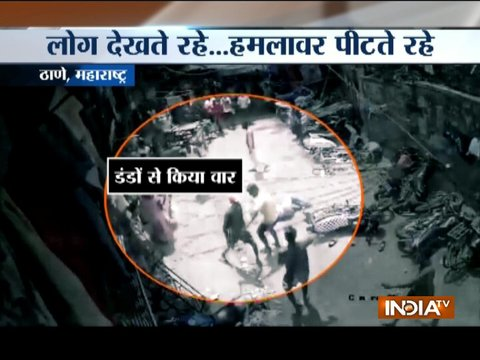 Youth brutally beaten-up by group of men in Thane, incident caught on camera