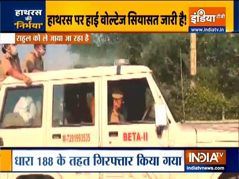 Congress leaders Rahul and Priyanka Gandhi detained by UP Police, taken to Buddh International Circuit