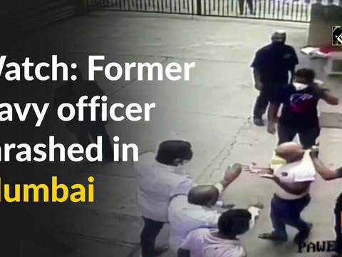 Watch: Former Navy officer thrashed in Mumbai