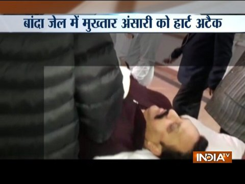 UP MLA Mukhtar Ansari suffers heart attack in jail, shifted to Lucknow hospital