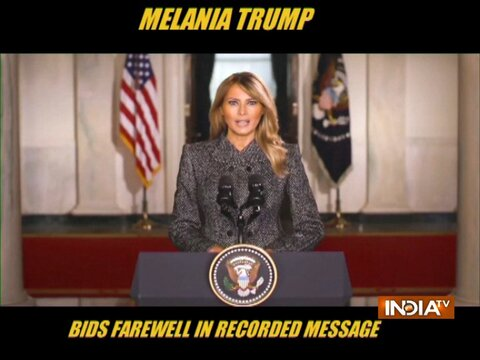 Melania Trump bids farewell in recorded message