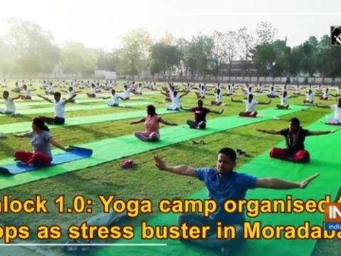 Unlock 1.0: Yoga camp organised for cops as stress buster in Moradabad