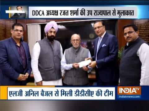 उपराज्यपाल से मिले डीडीसीए अध्यक्ष रजत शर्मा, घटनाक्रम की दी जानकारी