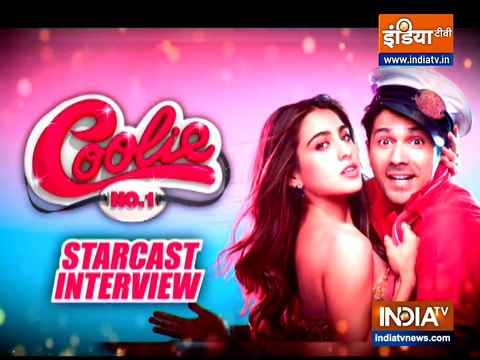 Varun Dhawan and Sara Ali Khan on their upcoming film 'Coolie No. 1'