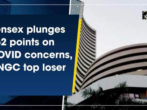 Sensex plunges 562 points on COVID concerns, ONGC top loser