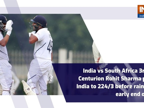 India vs South Africa 3rd Test: Centurion Rohit Sharma powers India to 224/3 before rain forces early end on Day 1