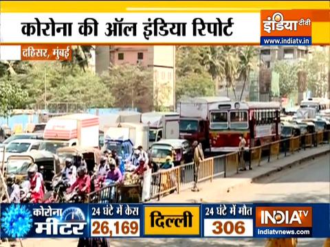 महाराष्ट्र में COVID मामलों के बढ़ने के साथ दहिसर में भारी ट्रैफिक देखा गया