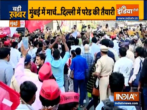 महाराष्ट्र पुलिस ने मुंबई के आजाद मैदान से राज्यपाल के घर तक की किसान मार्च को रोका