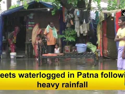 Streets waterlogged in Patna following heavy rainfall