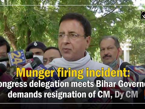 Munger firing incident: Congress delegation meets Bihar Governor, demands resignation of CM, Dy CM