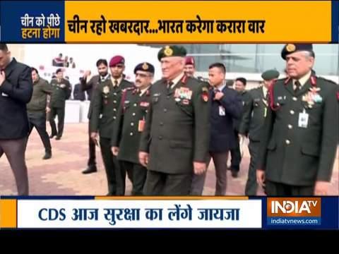 चीन के साथ LAC में तनाव के बीच CDS जनरल बिपिन रावत आज लेह का दौरा करेंगे