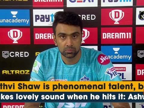 Prithvi Shaw is phenomenal talent, ball makes lovely sound when he hits it: Ashwin