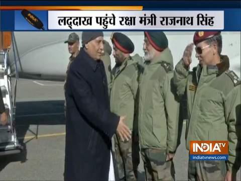 राजनाथ सिंह ने लद्दाख में कर्नल चेवांग रिनचेन पुल का उद्घाटन किया