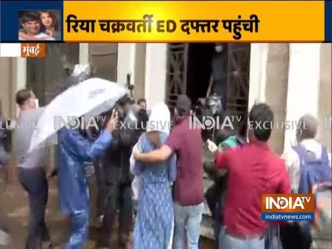 Sushant Singh Rajput Death Case: Rhea Chakraborty arrives at ED office in Mumbai