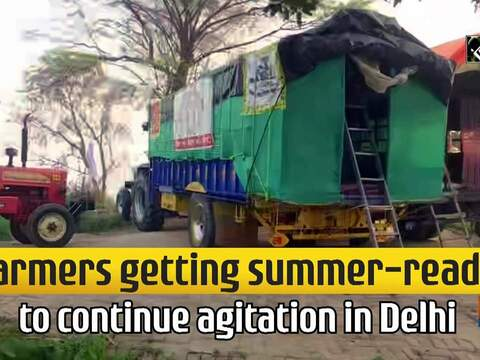 Farmers getting summer-ready to continue agitation in Delhi