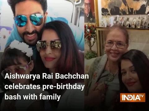 Aishwarya Rai Bachchan celebrates pre-birthday bash with family