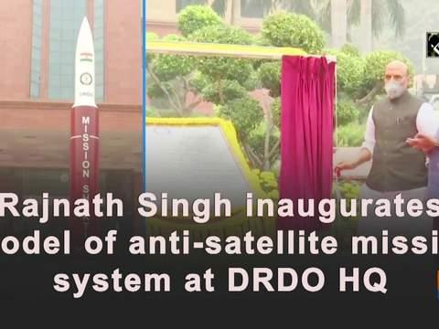 Rajnath Singh inaugurates model of anti-satellite missile system at DRDO HQ