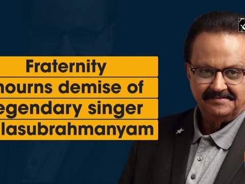 Fraternity mourns demise of legendary singer Balasubrahmanyam